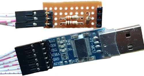 5v to 3.3v serial voltage level converter