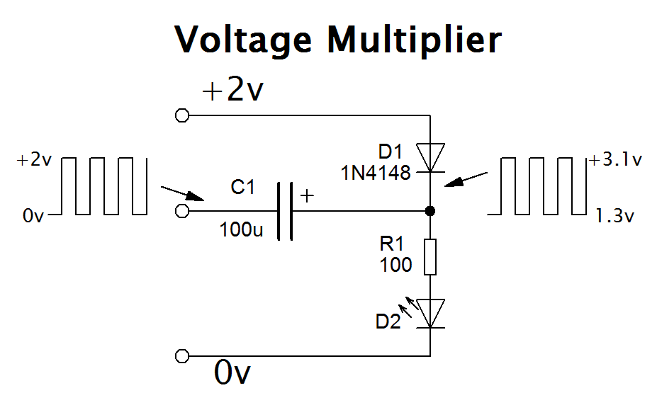Simple voltage multiplier circuit