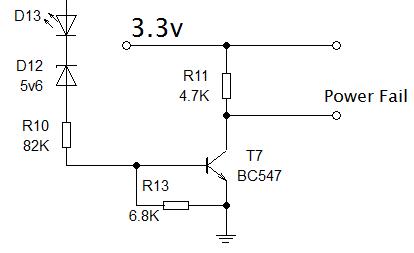 Power fail circuit diagram