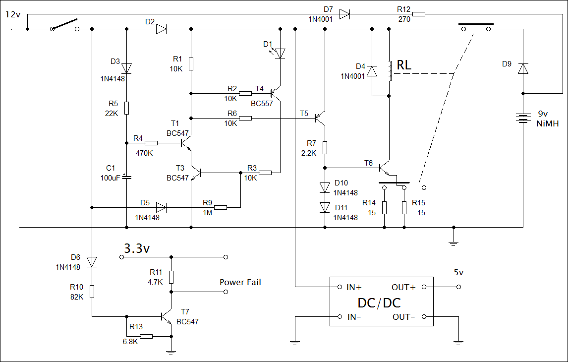 Microcomputer automatic shutdown circuit