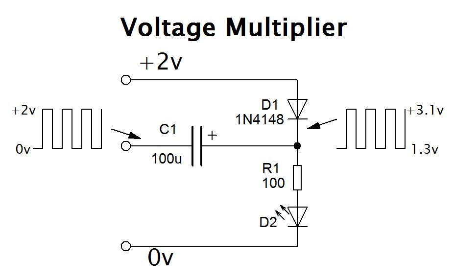 Simple voltage multiplier circuit