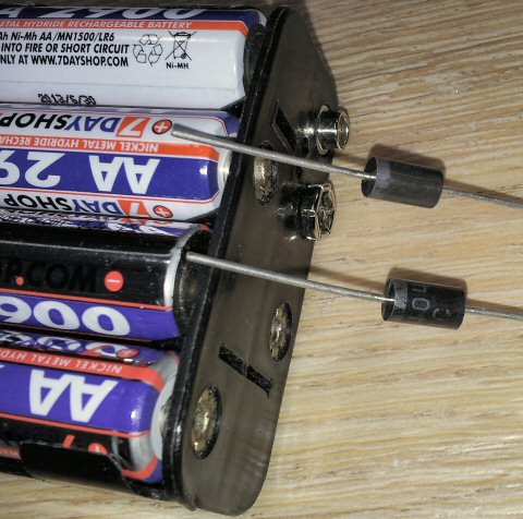 Batteries and diodes