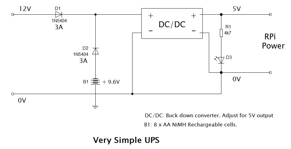 Very simple UPS circuit