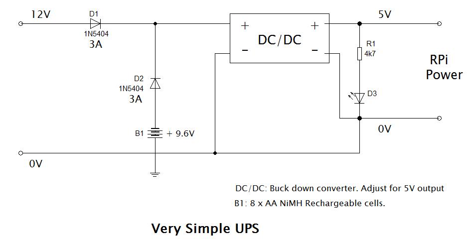 Very simple UPS circuit
